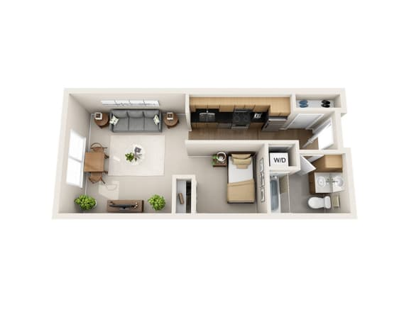 Waterscape at Juanita Village Apartments E1C Floor Plan