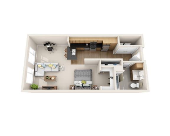 Waterscape at Juanita Village Apartments E1E Floor Plan