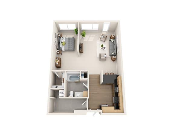 Waterscape at Juanita Village Apartments E1G Floor Plan