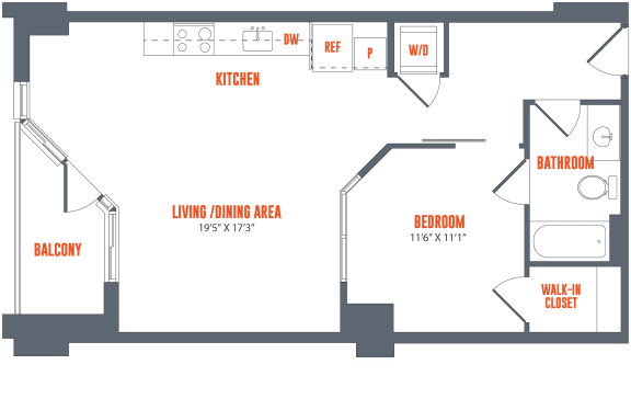 Legacy West End Apartments A1-2 Floor Plan