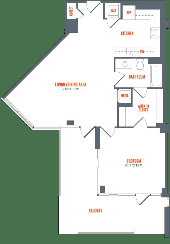 Floor Plan  Legacy West End Apartments A10 Floor Plan