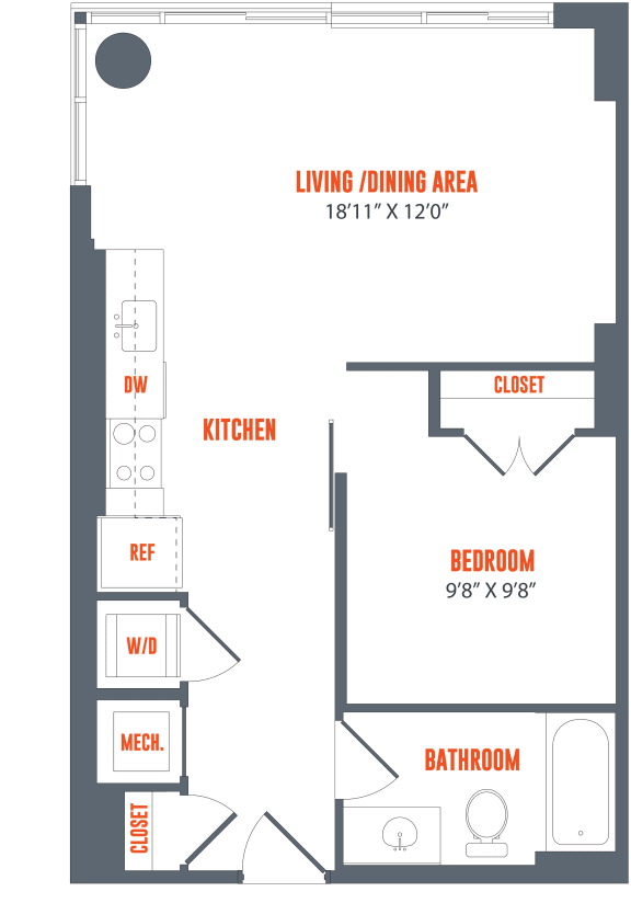 Legacy West End Apartments A15 Floor Plan