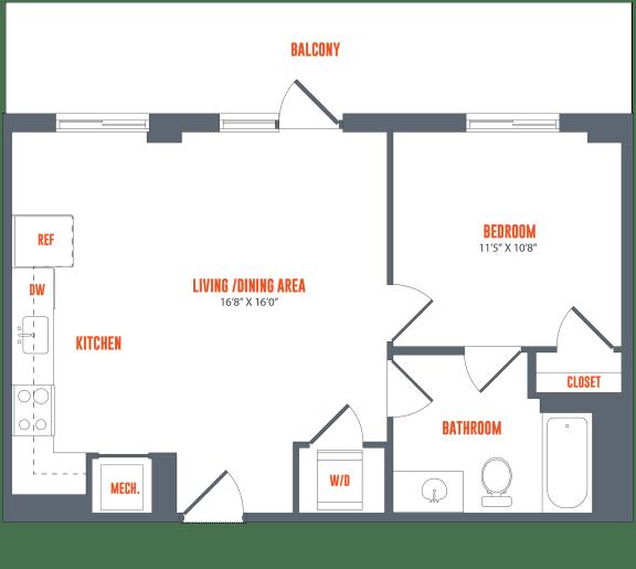 Floor Plan  Legacy West End Apartments A17 Floor Plan