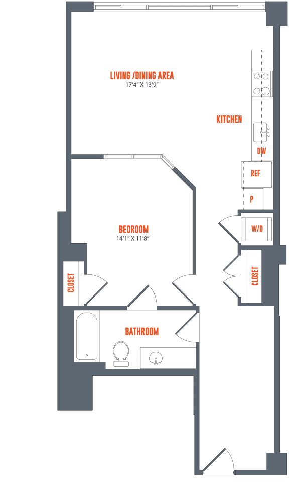 Legacy West End Apartments A2 Floor Plan