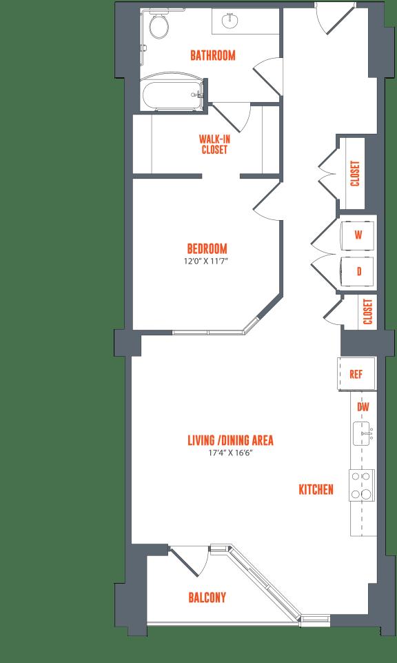 Floor Plan  Legacy West End Apartments A3H Floor Plan