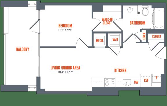 Floor Plan  Legacy West End Apartments A6 Floor Plan