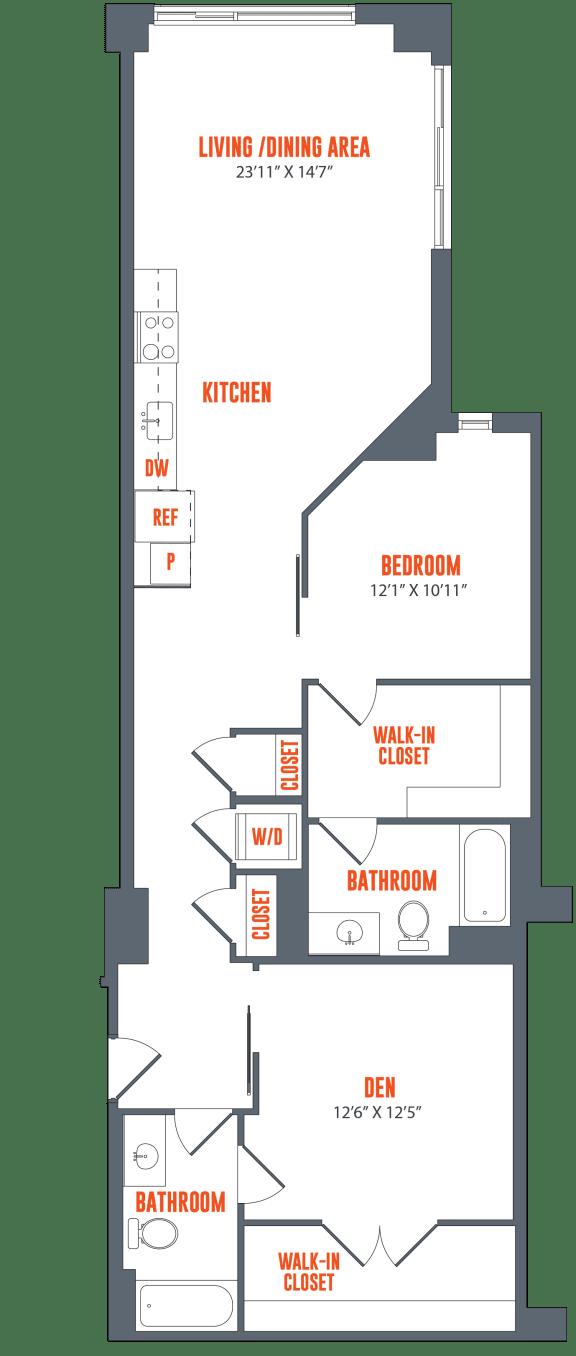 Floor Plan  Legacy West End Apartments B2 Floor Plan