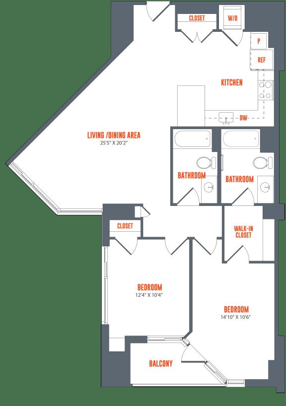 Legacy West End Apartments B5 Floor Plan