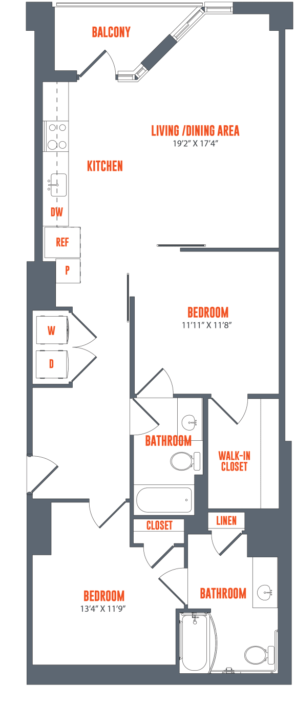 Legacy West End Apartments B6 Floor Plan
