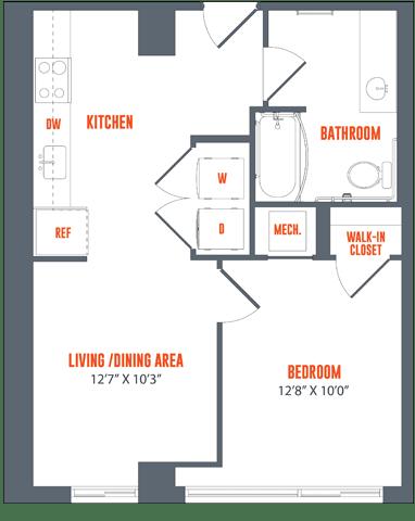 Floor Plan  Legacy West End Apartments S3AH Floor Plan