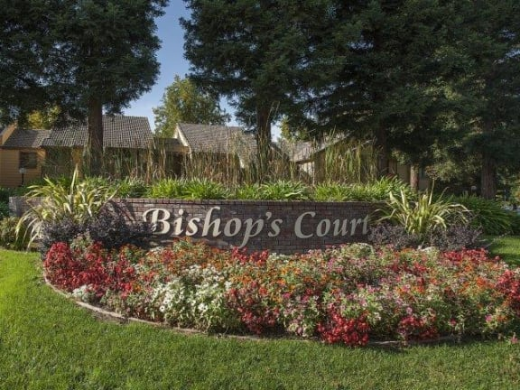 Bishops Court Apartments Property Entry Monument Sign