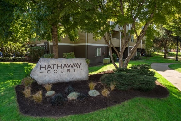 Hathaway Court Property Entry Monument Sign