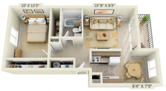 Floor Plan  Shadow Hills Apartments 1x1 Original Floor Plan 750 Square Feet
