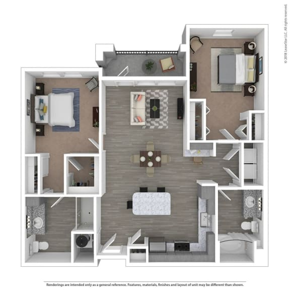 Floor Plan  B2A Two Bed Two Bath Floor Plan at Integra Sunrise Parc, Kissimmee, FL