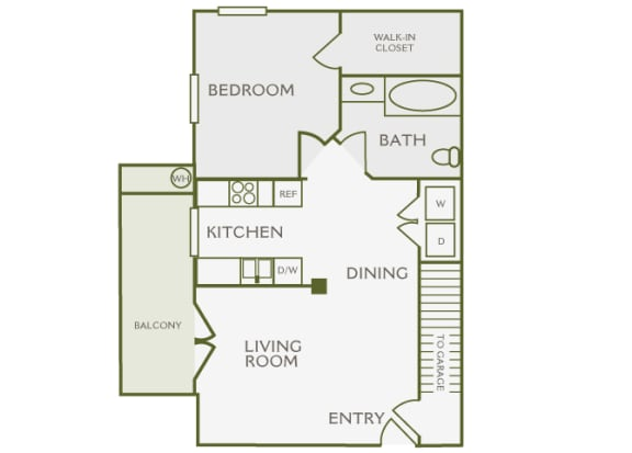 Antelope Ridge - A1 Oryx with Garage - 1Bed 1 Bath