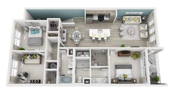 Radiant - D3 - 3x2 Floor Plan