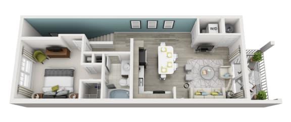 Floor Plan  Ambiance - A5 - 1x1 Floor Plan