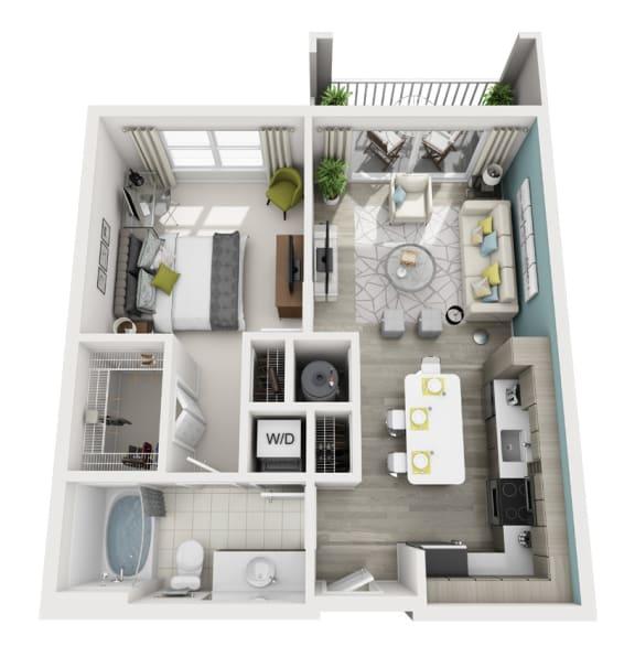 Floor Plan  Amaze - A7 - 1x1 Floor Plan