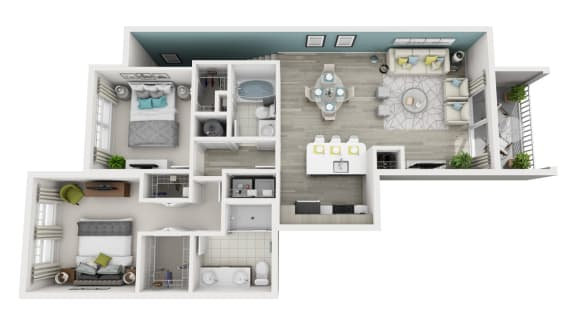 Excite - 2x2 Floor Plan