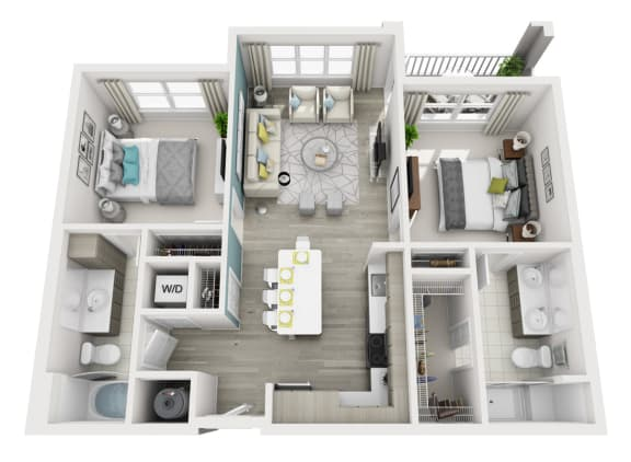 Exquisite - C5 - 2x2 Floor Plan