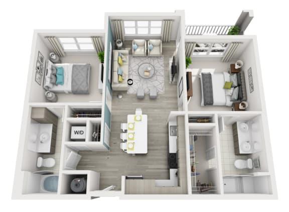Floor Plan  Exquisite - C5 - 2x2 Floor Plan