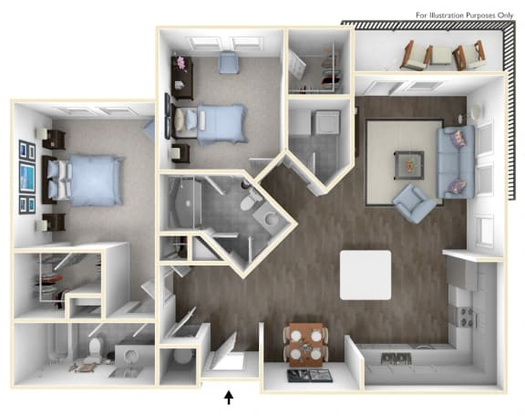 The best two bedroom apartment in Canton