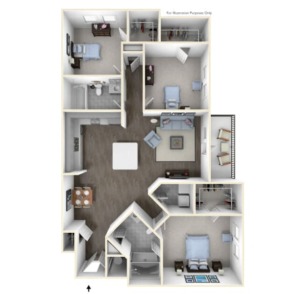 A spacious three bedroom with entertaining kitchen and flowing floor plan