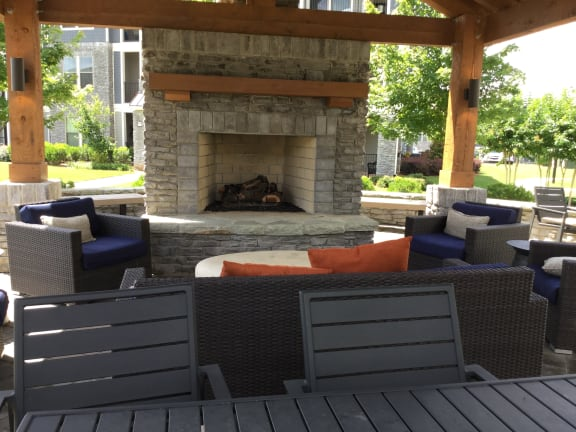 Grilling and Fire pit lounge area