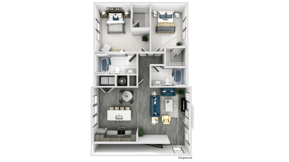 Dogwood Floor Plan at The Crest at Flowery Branch, Flowery Branch, 30542