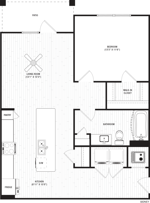 Sidney Floor Plan at The Crest at Flowery Branch, Georgia