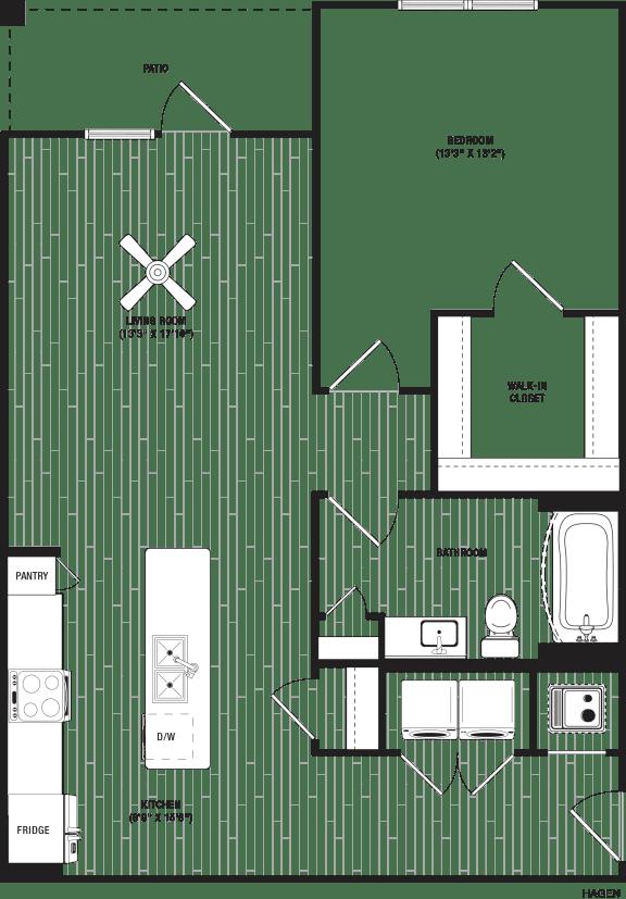 Hagen Floor Plan at The Crest at Flowery Branch, Georgia, 30542