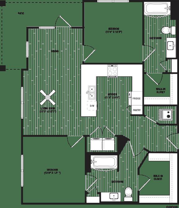 Dawson Floor Plan at The Crest at Flowery Branch, Flowery Branch, GA
