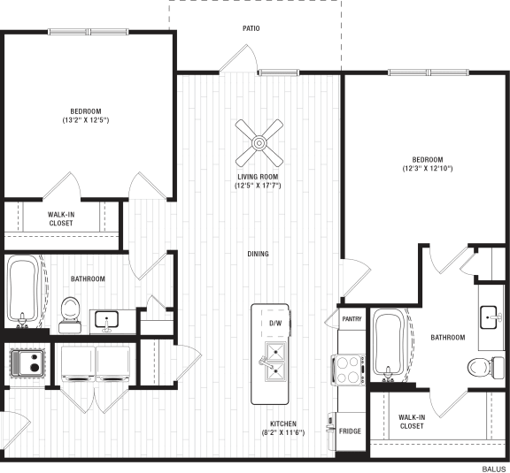Balus Floor Plan at The Crest at Flowery Branch, Flowery Branch, 30542