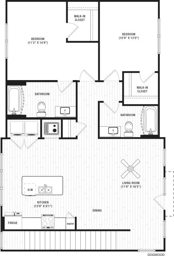 Dogwood Floor Plan at The Crest at Flowery Branch, Flowery Branch, Georgia