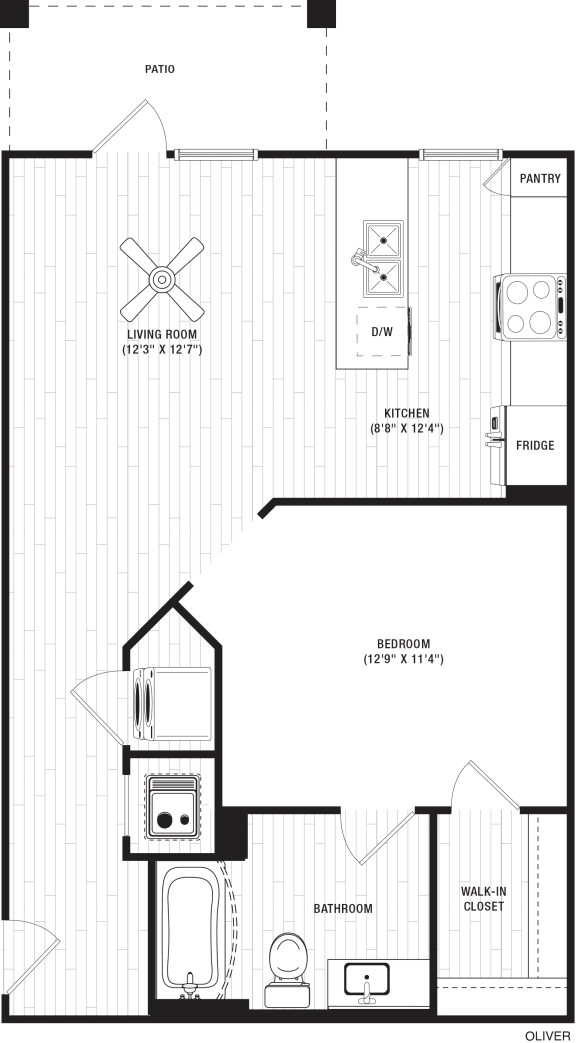 Oliver Floor Plan at The Crest at Flowery Branch, Flowery Branch