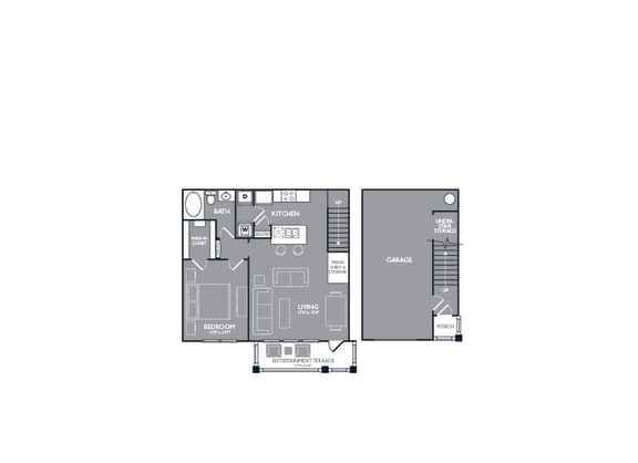 Floor Plan  One-Bedroom Floor Plan at Mansions of Georgetown, Georgetown, TX, 78626