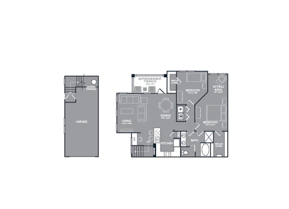 Floor Plan  B2 Floor Plan at Mansions of Georgetown, Texas