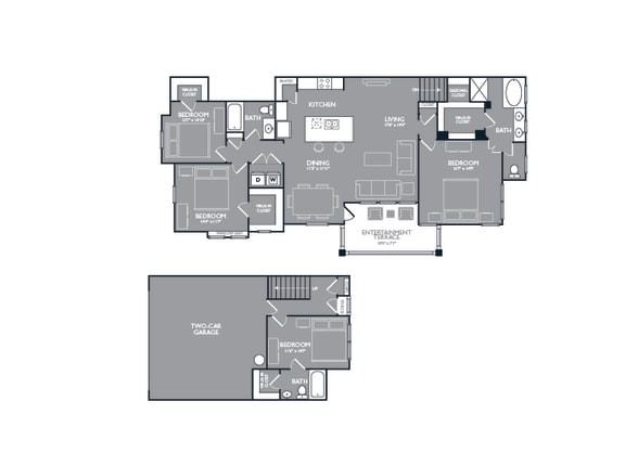 Four Bed Three Bath Floor Plan  at Mansions Lakeway, Lakeway, Texas