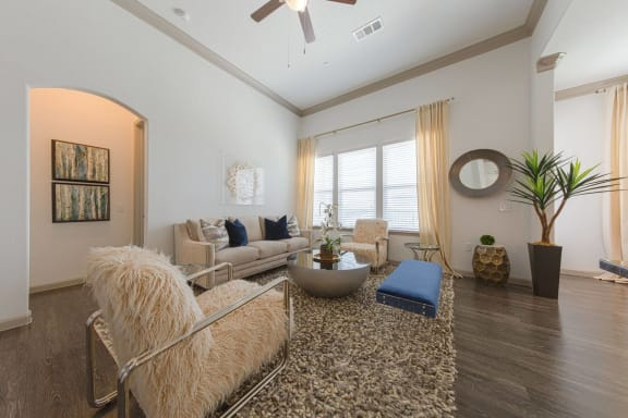 Comfortable Living Room at Mansions of Georgetown, Georgetown, TX, 78626