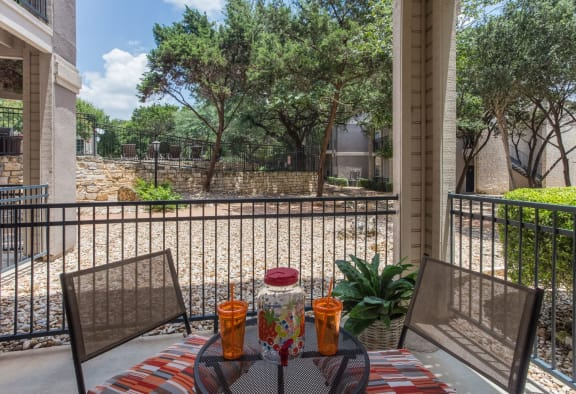 Private Balcony With Seating at San Marin, Austin, 78759