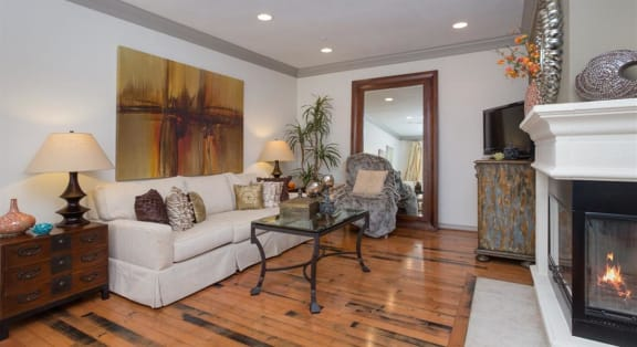 Open Concept Living Room at Estancia Townhomes, Dallas