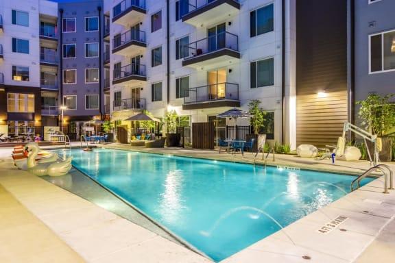 Poolside at Spoke Apartments in Atlanta, GA