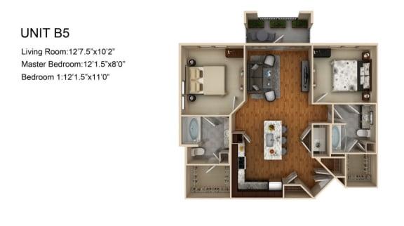 Floor Plan  B5 FloorPlan at Liberty Mill, Maryland, 20874