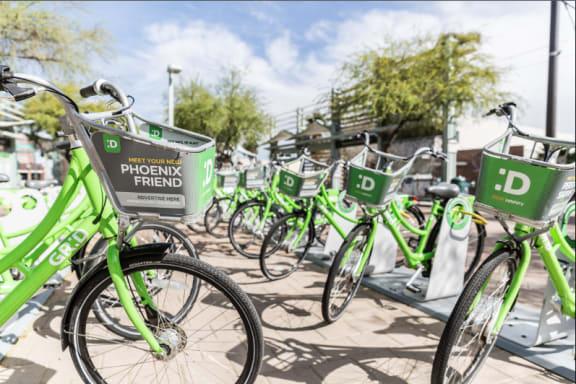 Neighborhood rental bikes