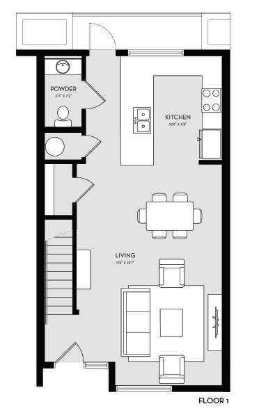 Two Bedroom 8 Floor 1