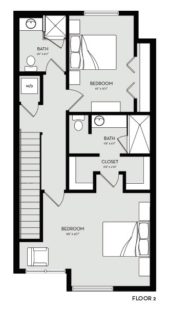 Two Bedroom 8 Floor 2