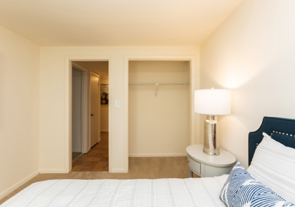 Spacious second bedroom with closet at Spring Hill Townhomes