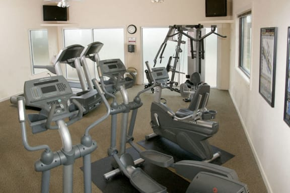 Gym and fitness center at Cromwell Valley Apartments