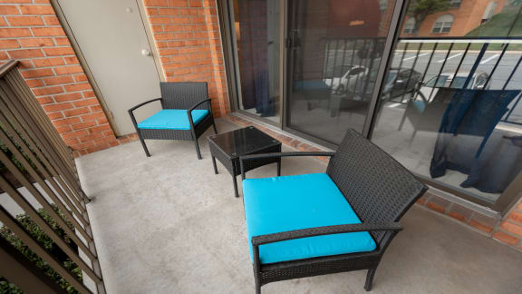 Private balcony at Cromwell Valley Apartments in Towson