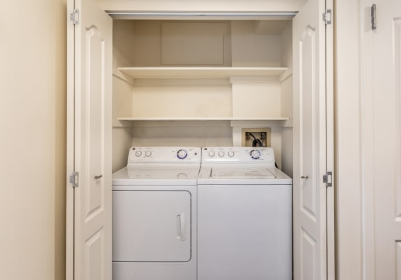 Full size washer and dryer at Ivy Hall Apartments in Towson MD